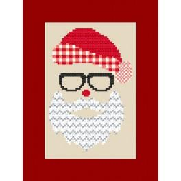 Cross stitch kit with a postcard - Santa Claus
