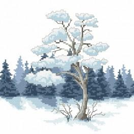 Cross stitch kit - Winter pine