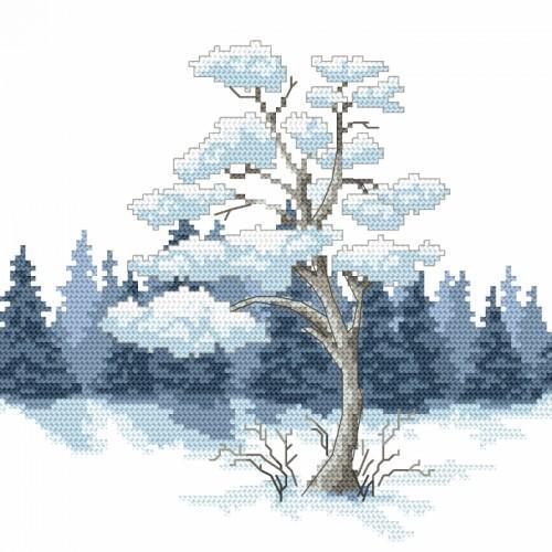 Cross stitch kit - Winter pine