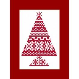 Cross stitch kit - Card - Ethnic Christmas tree