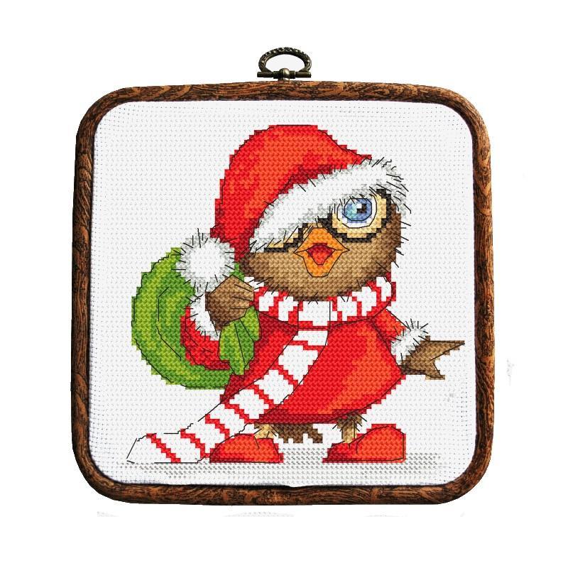 Christmas Owl.Cross Stitch Kit Christmas Owl
