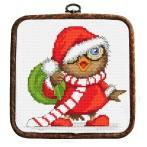 Kit with tapestry and frame - Christmas owl