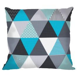 Cross stitch set with mouline and a pillowcase – Pillow - Original triangles