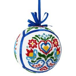 GU 8876 Cross Stitch pattern - Ethnic Christmas ball III