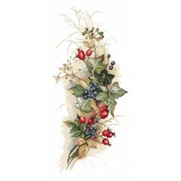 Cross stitch kit - Autumn bouquet