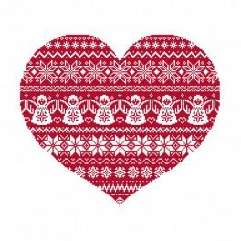 Cross Stitch pattern - Scandinavian heart