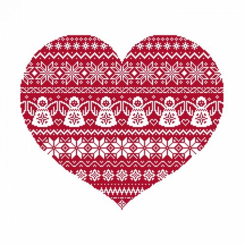 Kit with beads - Scandinavian heart