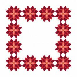 Cross Stitch pattern - Napkin - Stylized Poinsettia I