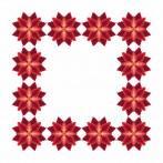 Pattern online - Napkin - Stylized Poinsettia I