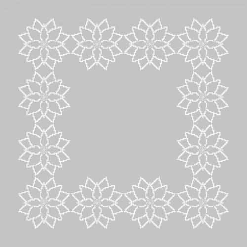 Pattern online - Napkin - Stylized Poinsettia II