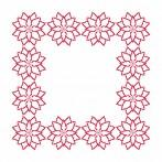 Cross Stitch pattern - Napkin - Stylized Poinsettia II