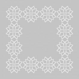 ZU 8864-02 Cross stitch kit with mouline and napkin - Napkin - Stylized Poinsettia II