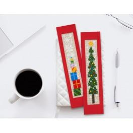 Cross stitch kit - Christmas bookmarks I
