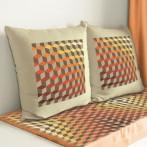 Cross stitch set with mouline and a pillowcase – Pillow - Illusion of diamonds