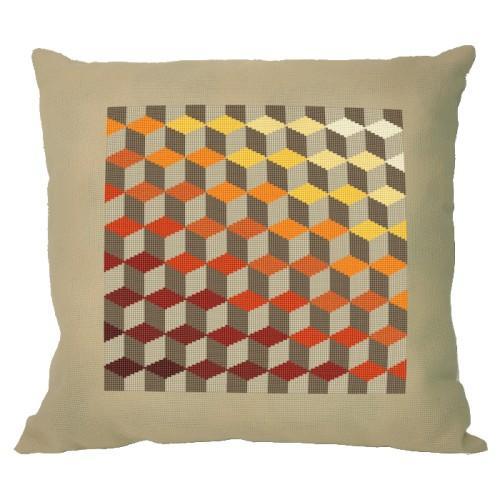 Graphic pattern – Pillow - Illusion of diamonds