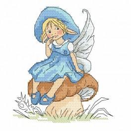 Pattern online - Little elf ona a mushroom