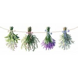 Cross stitch kit - Herbs from the garden