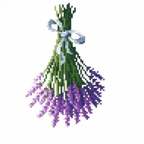 Cross stitch set - Lavender