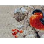 Cross stitch kit with beads - Winter guest