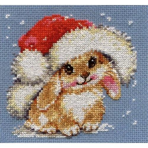 Cross stitch kit - Winter bunny