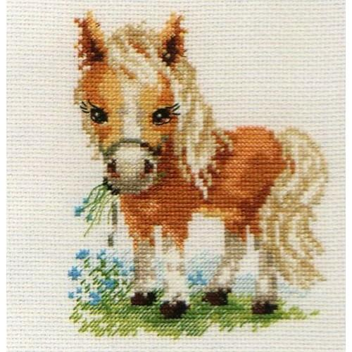 Cross stitch set - White mane horse