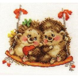 Cross stitch set - On the swing