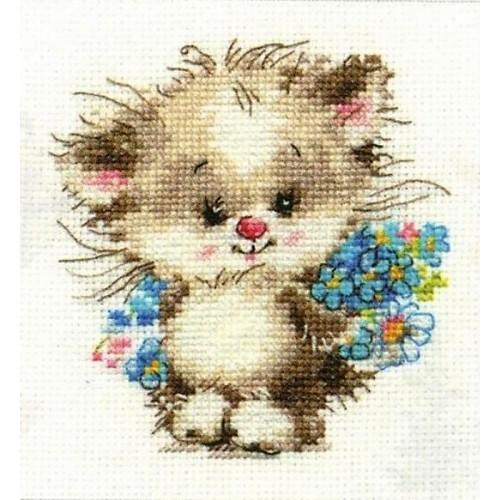 Cross stitch kit - To my favourite cat