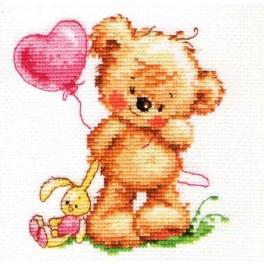 ALI 0-70 Cross stitch kit - Lovely teddy bear