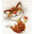 Cross stitch kit - Pussycat