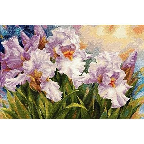 Cross stitch set - White irises