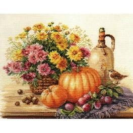 Cross stitch kit - Still life with Pumpkin