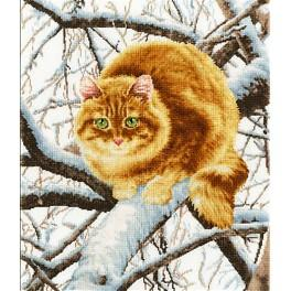 Cross stitch set - Red cat