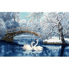 Cross stitch set - White swans