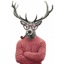 Tapestry canvas - Hipster deer