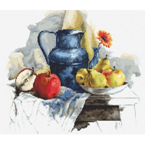 Cross stitch set - Still life with fruit