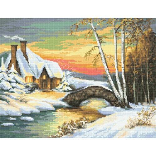 Cross stitch set - Winter atmosphere