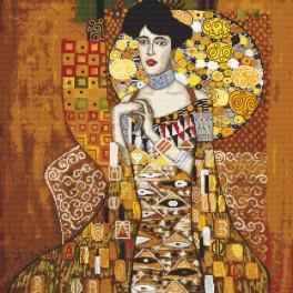 K 8887 Tapestry canvas - Portrait Adele Bloch-Bauer - G. Klimt