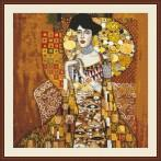 Cross stitch set - Portrait Adele Bloch-Bauer - G. Klimt