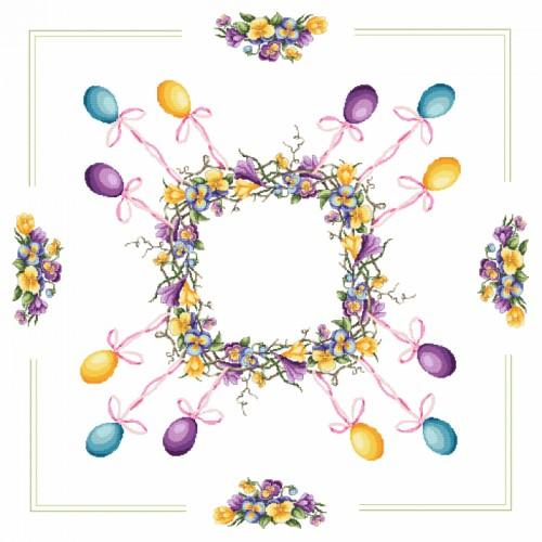Pattern online - Tablecloth - Easter wreath