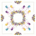 Cross stitch set - Tablecloth - Easter wreath
