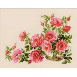 Cross stitch kit - Sweet flowers