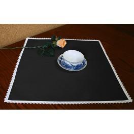 978-02 Napkin Aida 45x45 cm (1,5x1,5 ft) black