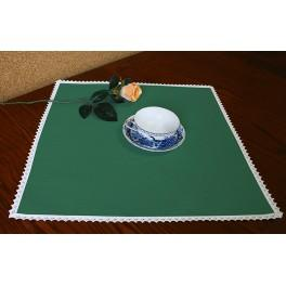 Napkin Aida 45x45 cm (1,5x1,5 ft) green