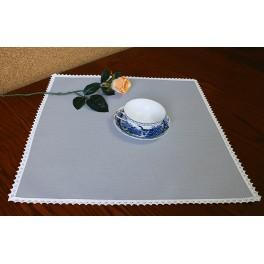 Napkin Aida 45x45 cm (1,5x1,5 ft) grey