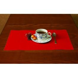 Napkin Aida 45x30 cm (1,5x1,3 ft) red