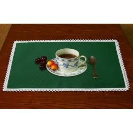 Napkin Aida 45x30 cm (1,5x1,3 ft) green