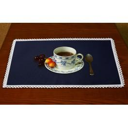 Napkin Aida 45x30 cm (1,5x1,3 ft) navy blue
