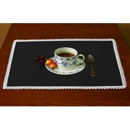 Napkin Aida 45x30 cm (1,5x1,3 ft) black