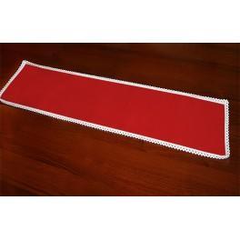 981-06 Napkin Aida 37x21 cm red