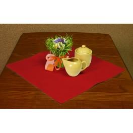 Napkin Aida 45x45 cm (1,5x1,5 ft) red